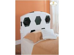 Homelegance Youth Bedroom Full Soccer Speaker Headboard 123SCF-1
