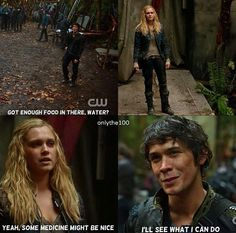 {// Bellarke // The 100 // CW //} Much more cuteness from these two, and I'm going to have to make a board specifically for The 100...just so I can crowd it with Clarke and Bellamy <3 |Bellarke||The 100||CW||Season 1||TV|