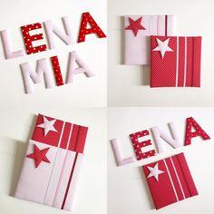 Stoffbuchstaben und Memoboards mini in rot/rosa #norabellahome #dawandashop #handgemacht #handmadewithlove #handmadeinmunich #stoffbuchstaben #name #mädchenzimmer #girlsroom #girlsroomdecor #kinderzimmer #wallletters #doorletters