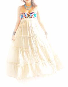 Corazon Mexicano embroidered dress vintage Mexico por AidaCoronado