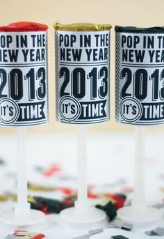 Make Your New Years Pop! 15 DIY Confetti Poppers for NYE via Brit + Co