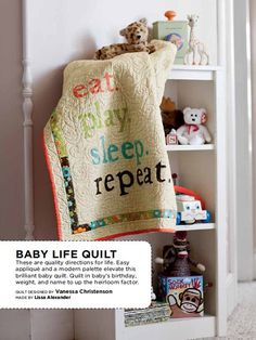 Ho-Ho-Holiday Blog Hop: Gifts for Quilters - This baby quilt makes a perfect statement!
