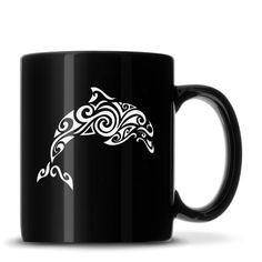 We can't wait to send this out! Black Coffee Mug ... Order this new product here: http://integritybottles.com/products/black-coffee-mug-with-tribal-dolphin-deep-etched?utm_campaign=social_autopilot&utm_source=pin&utm_medium=pin  #integritybottles