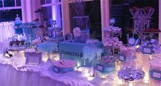 Purple And Turquoise Candy Buffet | We really enjoyed creating this Tiffany Themed Candy Buffet. I have to ...
