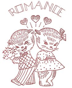 Love Vintage Embroidery Transfer