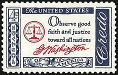 George Washington saying US Postage Stamp