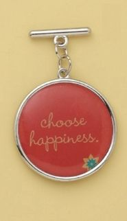 """#DesBookMomGiveaway """"Choose Happiness"""" charm.  I want this to help me when I get depressed."""