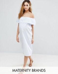 Mama.licious Striped Bardot Dress