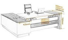 Image result for office executive table design dimension