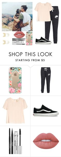 """""""Love"""" by louisonedirection-1 ❤ liked on Polyvore featuring Casetify, NIKE, H&M, Vans, Stila, Lime Crime and Lipsy"""