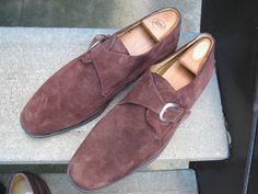 Zelli Used Brown Suede Leather Oxfords 12 #Zelli #DressShoes