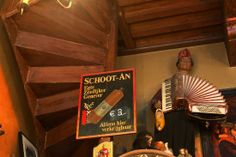 Amsterdam Accepts Monkeys for Beer at In't Aepjen, one of the city's most interesting pubs in one of its oldest buildings. See that cool wooden staircase? It literally leads nowhere! The Dutch colonized the East Indies, and sailors who were back and forth from Amsterdam and the islands would promise to bring back exotic goodies to pay back their bar debts, including monkeys! | www.bayessence,com