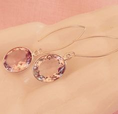 A personal favorite from my Etsy shop https://www.etsy.com/listing/245504967/pink-amethyst-earrings-sterling-silver