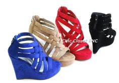 Women NEW Strappy Ankle Open Toe Summer Platform Wedge High Heel Sandal Shoes #other #PlatformsWedges