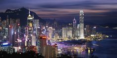 The Night view of Hong Kong