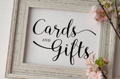 Cards and Gifts Sign  Printable Wedding by Invitationstemplates