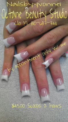 Rock em like u own em! Flared pink and white french nails with dips White French Nails, French Acrylic Nails, Acrylic Nail Designs, Perfect Nails, Gorgeous Nails, Pretty Nails, Duck Flare Nails, Duck Feet Nails, Fan Nails