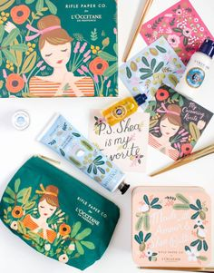 Empaques L´Occitane Rifle Paper Co for L'Occitane Soap Packaging, Cosmetic Packaging, Packaging Design Inspiration, Graphic Design Inspiration, Guache, Surface Pattern Design, Design Thinking, Box Design, Identity Design