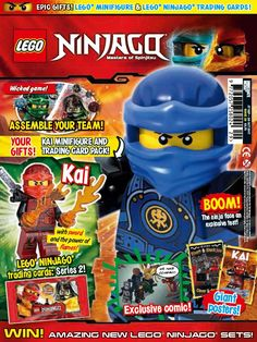 With the latest issue of LEGO® NINJAGO ™ are <strong>two epic gifts</strong>, including a LEGO® minifigure & LEGO® NINJAGO ™ trading cards!    Inside issue 29, play Assemble Your Team in our wicked game, the ninja face an explosive test, there's part 2 of our exclusive comic and two giant posters!    <strong>PLUS:</strong> WIN amazing new LEGO® NINJAGO ™ sets!