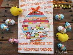 Bigliettino di Pasqua fai da te a forma di uovo con carta di riciclo