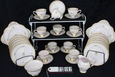 Tuscan or Royal Tuscan Fine English Bone Chine Rosalie Pattern Vintage Tea Set TS107