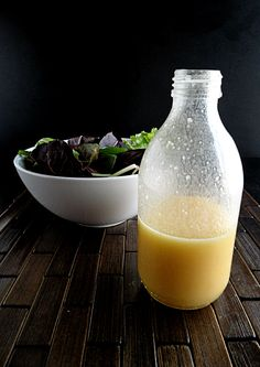 Orange Sesame Ginger Dressing Ingredients 1/4 C freshly squeezed orange juice 1/4 C light oil (I used vegetable) 3 Tbsp of rice wine vinegar 1 Tbsp sesame oil 1 clove of garlic, finely minced 1/4 tsp of ginger (either the dried powder, or fresh pulp) s+p to taste