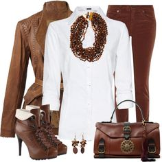 Corduroy Jeans, Cuffed Boots & Statement Necklace