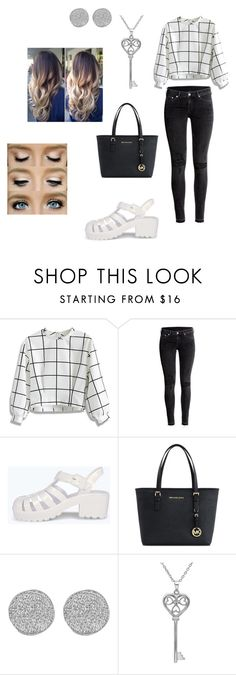 """Black and White"" by madimoochoo ❤ liked on Polyvore featuring Chicwish, H&M, Boohoo, Michael Kors, Karen Kane and Amanda Rose Collection"