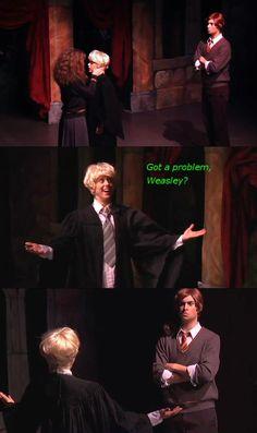Lauren Lopez as Draco Malfoy=the best thing ever. Harry Potter Musical, Harry Potter Fandom, Harry Potter Memes, Slytherin Pride, Hogwarts, A Very Potter Sequel, Lauren Lopez, Avpm, Team Starkid
