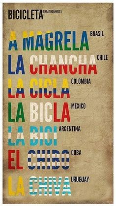 Bicicleta en Latin America. - Just thought this was cool. Nothing more to it.