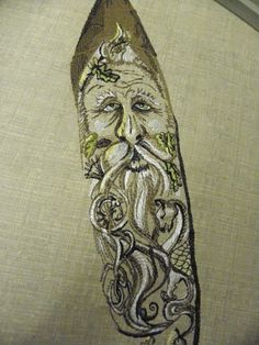 Green Man Green Man, Male Face, Machine Embroidery, Celtic, Folk, Trees, Crystals, Tattoos, Modern