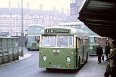 """""""Wolverhampton Victoria Square Bus Stop A 1963 AEC Reliance with two Bristol double deckers behind. Blue Bus, Bus Coach, Bus Ride, Wolverhampton, Bus Station, Busses, Bus Stop, West Midlands, Commercial Vehicle"""