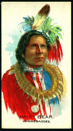 Cigarette Card - Indian Chief, Hairy Bear
