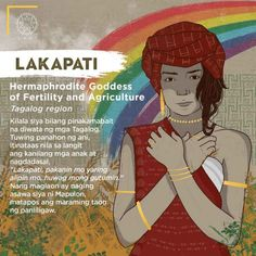"Lakapati (Ikapati) "" Goddess of Fertility and Agriculture"" - The Philippines Today Filipino Words, Filipino Art, Filipino Culture, Filipino Tattoos, Philippine Mythology, Philippine Art, Japanese Mythology, Greek Mythology, Mythological Creatures"