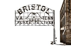 Bristol Tennessee/VA sign. Awesome place to visit :)