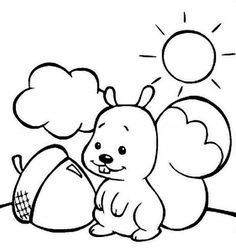 squirrel love eat acorn coloring pages projects to try pinterest
