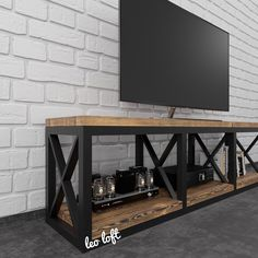 Iron Furniture, Classic Furniture, Industrial Furniture, Home Furniture, Furniture Design, Home Room Design, Loft Design, House Design, Tv Stand For Sale