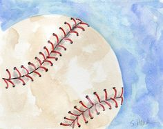MERMAID'S PALETTE: Baseball Themed Watercolors