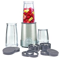 BELLA Personal Size Rocket Blender 12 piece set color stainless steel and black *** Click image for more details. (This is an affiliate link) Rocket Blender, Portable Blender, Best Smoothie Blender, Good Smoothies, Smoothie Recipes, Stainless Steel Blender, Single Serve Blenders, Electric Juicer, Fruit Juicer