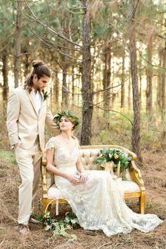 Vintage Wedding Inspiration with a Bohemian Twist