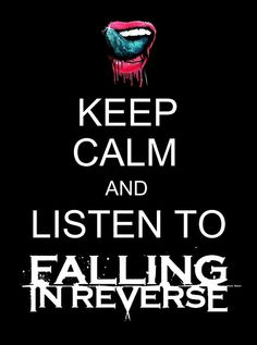 how to draw falling in reverse logo