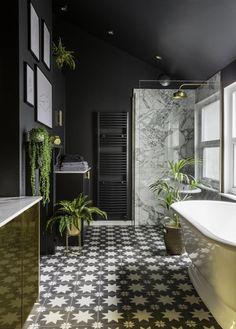 30 Inspiring Black Marble Bathroom Design Ideas With Stylish Accent 30 Inspiring Black Marble Bathroom Design Ideas With Stylish Accent, accent bathroom black Design Ideas Inspiring marble stylish 712905816000812686 Black And Gold Bathroom, Neutral Bathroom, Bathroom Marble, Master Bathroom, Bathroom Canvas, Bathroom Mirrors, Parisian Bathroom, Black Bathroom Floor, Relaxing Bathroom