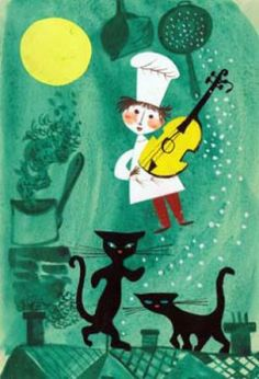 Illustration by Jerzy Srokowski Illustration Art, Cat Illustrations, Cat People, Cat Drawing, Cat Face, S Pic, Pictures To Draw, Fun Prints, Vintage Pictures