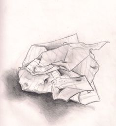 drawing crumpled paper - Google Search