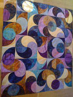 our crazy batik quilt by gbarron09, via Flickr