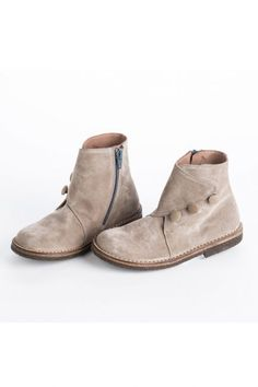 Pepe Beige Suede Ankle Boots