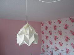 Origami+Lampenschirm,gefaltete+Lampe,Papierlampe+von+MAL+DIES,+MAL+DAS+auf+DaWanda.com