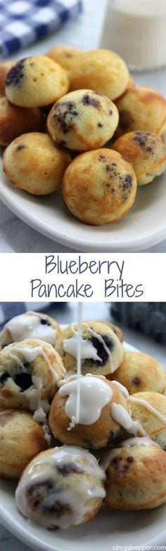 Blueberry Pancake Bites . more here http://artonsun.blogspot.com/2015/05/blueberry-pancake-bites.html