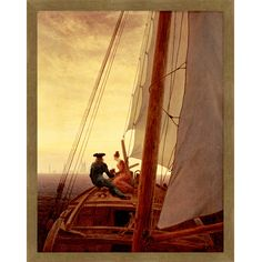 프리드리히 '범선 위에서'    낭만주의 작가 프리드리히의 작품  '범선 위에서'는 배 위의 한쌍의 커플을  그리고 있다.