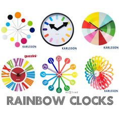 What Time Is It ? - Freshen Up Your Home With Colorful Clocks http://toyastales.blogspot.com/2013/05/what-time-is-it-freshen-up-your-home.html Red Candy UK has a colorful and modern assortment of clocks to choose from. Any one of these showstoppers will transform your interiors from forgettable to fabulous almost instantly. My fave is the Karlsson Water Lily Multi Coloured Clock. Which one compliments your personality?